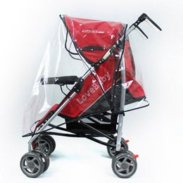 Wholesale Rain Cover Baby - Wholesale- Universal Strollers Pushchairs Waterproof Dust Rain Cover Pushchairs Baby Carriage Windshield Universal PU Raincover For Prams