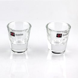 Wholesale Shot Glasses Cups - small glass high white material thick bottom glass for bullets cup party celebration holiday household goods 32ml125g
