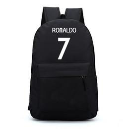 Wholesale Kids School Plain Backpacks - Wholesale- 7# Bag Ronaldo Backpacks Fashion School Backpacks For Teenagers Boy Girls School Style Nylon Backpacks Kids Gift Free Shipping