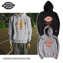 Wholesale Cashmere Hoodies For Women - Europe and the autumn and winter tide brand tooling big Dickies classic LOGO plus cashmere Hoodie hoodies for men and women