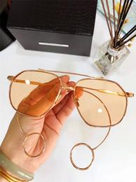 Wholesale Decorative Rings - Fashion Designer Sunglasses RENONER Alternative Special Design Irregular Frame Legs with Small Ring Light-colored Decorative Eyewear
