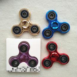 Canada Fidget Spinner Spinners Métallique Couleur Métallique gyro HandSpinner Adultes Stress Relief EDC Jouets Nouveau Cool Decopression Jouet Offre