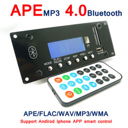 Wholesale Digital Voice Recorder Sd - Wholesale- Bluetooth 4.0 MP3 Decoding Board Module w  SD Card Slot   USB   FM   Alarm APE FLAC WAV WMA Decoder Board KIT Digital LED SD MMC