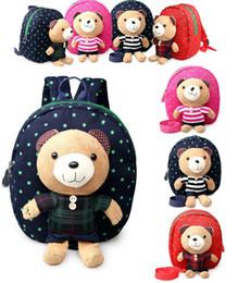 Wholesale Childrens Girls Bags - Wholesale Animal Toddler School Bags Cartoon Childrens Hiking Backpacks baby Anti lost backpack boys girls Weekend Bag Satchel Bag M980