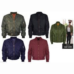 Wholesale Military Green Jacket Woman - High Quality Ma1 Thin Style Army Green Military motorcycle Ma-1 Flight Jacket Pilot Air Force Women Bomber Jacket