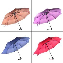 Wholesale Umbrella Frames - New Arrive Gentles Ladies Fully-automatic Aluminium Alloy Fiberglass Strong Frame Three Folding Compact Big Rain Umbrella 0703041