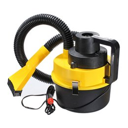 Wholesale Car Hoover - Wholesale-Yellow Auto Car Boat Truck Van Portable 12V Wet And Dry Vacuum Cleaner Hoover Air PumpCar Vacuum Cleaner