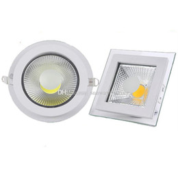 Wholesale 5w Led Lighting Fixtures - New Bridgelux COB LED Down Lights Glass Round Square recessed downlight LED Ceiling Spotlights 5w 10w 15w kitchen led lighting fixture CE UL