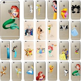 Wholesale Cases For 5c - For iphone 7 case 3D cartoon Simpson Frozen cases star wars Snow White Spiderman Mermaid TPU cover for iphone 4 5S se 5c 6 6s 7 plus best
