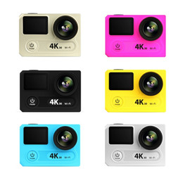 Wholesale 12 Cmos - 2017 H8RS Ultra HD 4K Video 170degrees Wide Angle 12-megapixel Ultra-thin dual screen 1080p 60fps WiFi action sport camera MOQ:1PCS