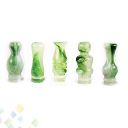 Wholesale Ego T Tips - New Arrival Jade Green Emerald Mouthpiece Fashion Drip Tip 510 Type fit to almost atomzer for ego-t ego-c ego-vv Electronic Cigarette