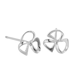 Wholesale Clover 925 Korean - 5 pairs lot Korean Delicate Cute Hollow Clover Windmill Temperament Women 925 Sterling Silver Stud Earring 2017 New Jewelry