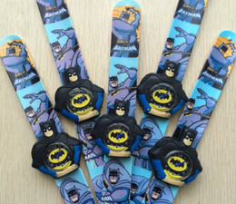 Wholesale Slap Sport Watches - 2017 The Hot Batman Movie Batman Slap Watch Boys Girls Children Students Watch Quatz Wrist Watch Small Gifts for Kids Free DHL Shipping