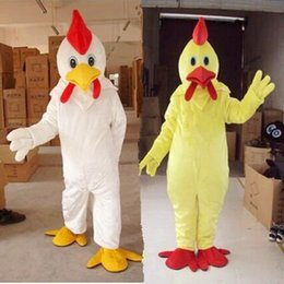 Wholesale Chicken Mascot Costumes - hot selling High quality Naughty chicken Mascot Costume Halloween Christmas Birthday party Adult Size Apparel Free shipping