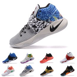 Wholesale Kyrie Irving Shoes - New Kyrie Irving Shoes Mens Basketball Shoes Kyrie 2 II Effect USA Cavs PE Inferno BHM high quality Sneakers sports shoes eur 40-46
