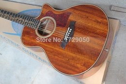 Wholesale Acoustic Koa - Wholesale-2015 Chinese Factory Custom New Arrival Acoustic Electric Guitar, K24CE Guitar, Natural Koa, Acoustic Guitar wiht EQ, 930