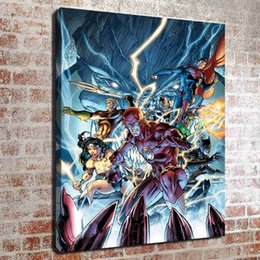 Wholesale Kitchen Oil Paintings - (No frame) DC superhero collection three HD Canvas print Wall Art Oil Painting Pictures Home Decor Bedroom living room kitchen Decoration
