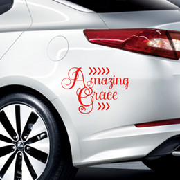 Wholesale Grace Stickers - AMAZING GRACE - VINYL Car Window DECAL Sticker Faith Hope Christian How Sweet