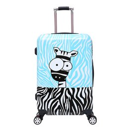 Girls wheeled suitcase à vendre-Baby Boys Girls Cartoon Trolley Sacs scolaires / Enfants 20/28 pouces Suitcase On Wheels / Kindergarten Cute Pelush Animal Luggage