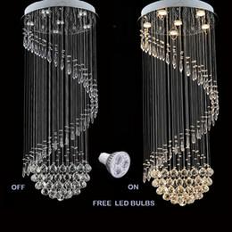 Illuminazione del pendente del corridoio principale online-Moderna lampada a sospensione a soffitto in cristallo chiaro K9 Lampadario Illuminazione interna Illuminazione a LED a soffitto Plafoniere
