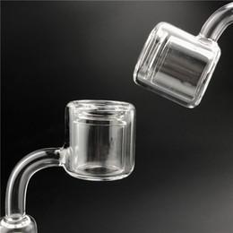 Wholesale Clear Pillars - Quartz Thermal Banger Pillar Nail with XL XXL Double Honey Bucket 10mm 14mm Male Female Clear Joint Quartz Banger Nails for Glass Smoking