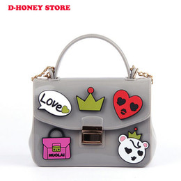 Wholesale Toddler Purses Handbags - Factory wholesale Baby women Toddler Fashion children Princess Candy jelly printed bag handbag silicone Satchel Baby Messager Bags
