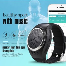 Wholesale Bracelet Bluetooth Speaker - RS09 Sport Running Music Watch Bluetooth Bracelet Wristband with Speaker Dual Bluetooth Pedomete Support TF card for Smart Phone