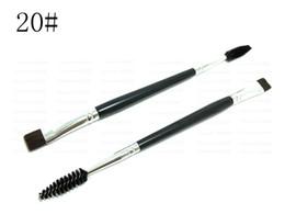 Wholesale Wholesale Eyelashes Good Quality - Free shipping DHL EMS epacket!Wholesale hot sale in the eyes and eyelash 20# use good quality double makeup brush