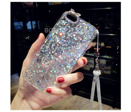 Wholesale Wholesale Yards Bling - 10pcs Luxury Cute Diamond Rabbit long chain yard Glitter bling Rhinestones soft case For Samsung galaxy j3 j5 j7 prime 2017 s8 plus