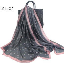 Wholesale Oversized Scarf Pattern - 2017 Free shipping 180*90cm Oversized Pashmina silk Wrap Shawl Small flowers Pattern Print Scarves for graceful women ladies