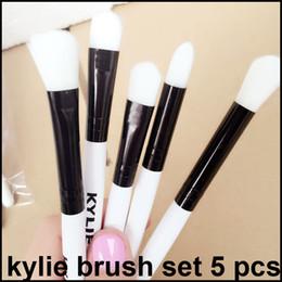 Wholesale Makeup Brushes Set Black - In stock Kylie Brush Set Kylie Holiday Edition brushes set Kylie Jenner Makeup brushes 5pcs set free shipping