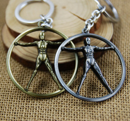 Wholesale Robot Woman - Vintage Westworld Keychain Antique Bronze Westworld Robot Model Key Rings Fashion HOB TV Jewelry Accessories For Car