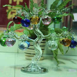 Wholesale Fortune Money - Beautiful Popular Crystal apple tree Fortune tree home furnishings Ornaments Creative wedding gifts move New House Decoration Crafts