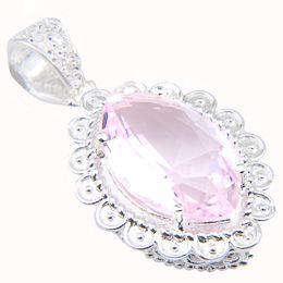 Wholesale luxury necklaces gemstone pendant - Luxury Genuine 925 Silver Crystal Jewelry Fire Honey Pink Topaz Gemstone Silver Pendants Necklaces for Men Women Xmas Gifts