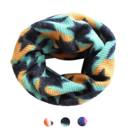 Wholesale Cheapest Rings Free Shipping - Wholesale- Cheapest! Free shipping Winter Kids Baby Cartoon Scarf Thicken Cotton O Ring Neck Warmer 50*25cm Children neck Scarves Wholesa