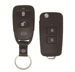 Wholesale Kia Sportage Remote - Car Key Cover For Kia Old Sportage 2 Buttons Modified Folding Remote Key Shell Replacement Case Fob Blank Cover+Free Shipping