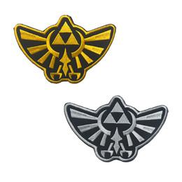 Légende brodée du logo royal de l'or de la Crête royale de Zelda Hyrule, insigne tactique, armée américaine, Moral HookLoop, broderie, décoration, navire gratuit ? partir de fabricateur