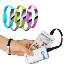 Wholesale Dhl Free Shipping Bracelet - Portable Micro USB Cable Bracelet Data Charging Line Wristband For iPhone 7 Plus 6S 6 SE 5S Samsung S7 Edge free Shipping DHL
