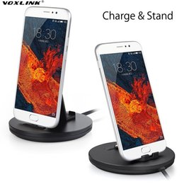 Wholesale Dock Station Cradle Sync Usb - VOXLINK USB Type-C Port Charger and Sync Docking Station Phone Stand Holder Cradle For Samsung S8 Plus Xiaomi M5 Mi6 Huawei P9 P10