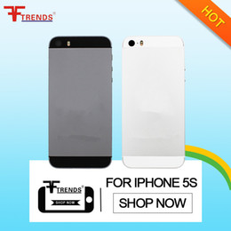 Wholesale Tray Back - For iPhone 5s Replacement Hard Metal Alloy Back Battery Case Cover Back Housing with Side Button Sim Tray Small Parts Gold Silver Gray