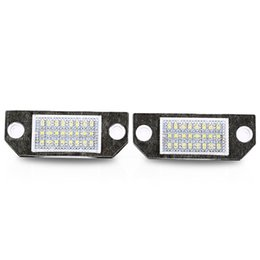 Wholesale Pair License Plate - Pair of Car License Plate Lamp 24 LED 6W 12V LED Light for Ford Focus 2003 - 2008 Light Your License Plate at Night