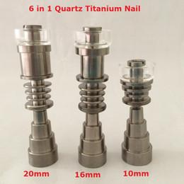 Gr2 Domeless Titanium TI clous dabber 6 en 1 mâle femelle ajustement 14mm 10mm 18mm joint en verre bong pour cire électrique ? partir de fabricateur
