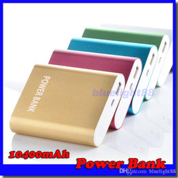 Wholesale Emergency Battery Mobile Phone - 10400mAh portable power bank external battery emergency battery for mobile phone tablet pc ipad