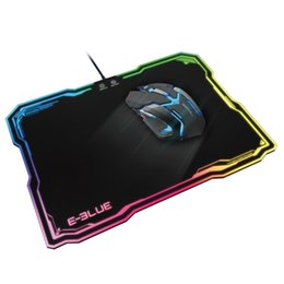 Wholesale Gaming Mouse Lights - E - 3LUE EMP013 Gaming Mouse Pad Rubber With 10 lighting Models RGB Lighting Mousepad For cs go lol Cool Mouse Pad +B
