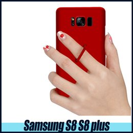 Wholesale Chinese Finger Rings - For Samsung S8 S8plus Multifunctional Scrub 360 degree Rotation finger ring buckle phone ring holder case PC Protection Back Shell