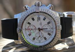 Wholesale Black Baton - Luxury AAA Top Quality Super Avenger White Face Baton Pro Diver Quartz Men's Date Watch Black Rubber Strap Mens Sport Wrist Watches