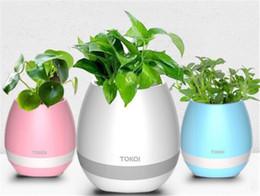 Smart Music Flowerpot Creative Music Jarrón Inalámbrico Bluetooth Altavoz K3 Intelligent Plant Piano Music con una colorida luz LED nocturna desde fabricantes