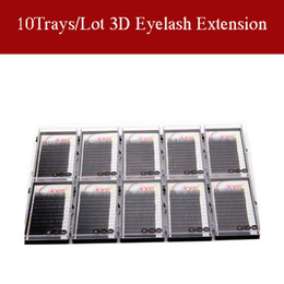 Wholesale 100 Hand Made Eyelash Extension Silk Mink Lashes Soft Material Trays Individual Lashes B C D Curl With