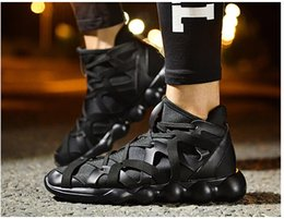 Wholesale Hip Boots Women - Wholesale-Men 2016 new Red black shoes Mens Women fashion boots With zipper Casual flat shoes Hip-hop shoes chaussure homme size 36-44