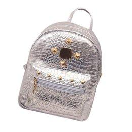 Wholesale College Book Bag - School Backpacks New College Wind Schoolbag Washed Leather Backpack Women Gold Velvet Small Rucksack Book Shoulder Bag